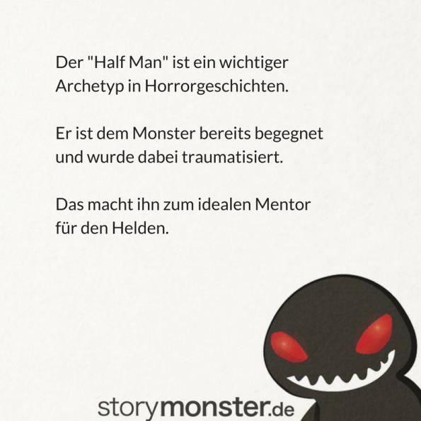 """Ash in Alien, Qunit in Der weiße Hai: Der """"Half Man"""" fehlt in keiner guten Horrorgeschichte."""