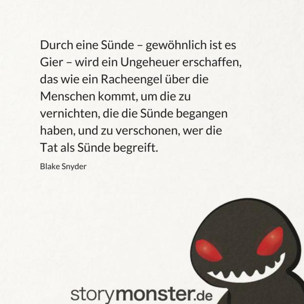 Blake Snyder über die Sünde in Horrorstorys