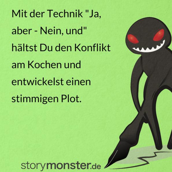 """""""Ja, aber – Nein, und"""": Kreative Schreibtechnik für Autoren"""