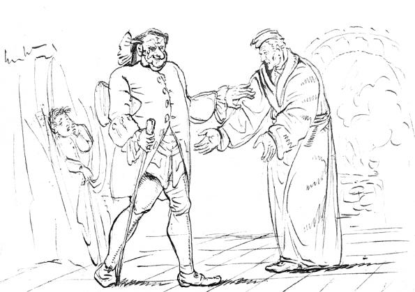 """Zeichnung von E. T. A. Hoffmann zu seinem Buch """"Der Sandmann"""" (Wikimedia Commons)"""