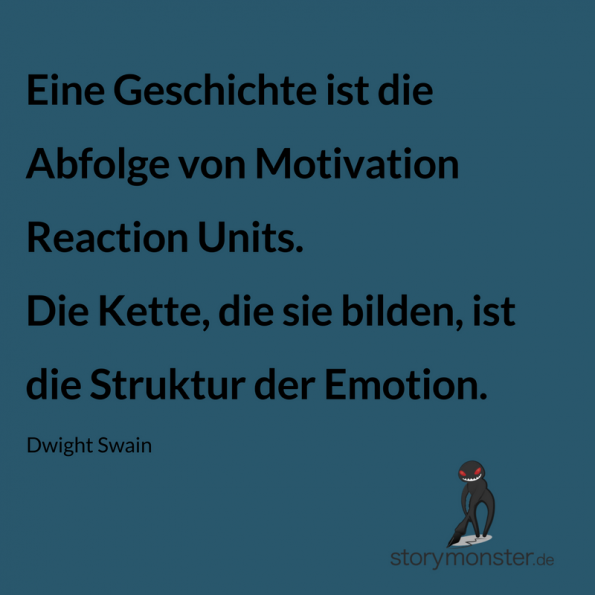 Dwight Swain Motivation Reaction Units MRU Zitat Deutsch